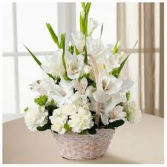 Eternal Affection  Bouquet mixed white arrangement