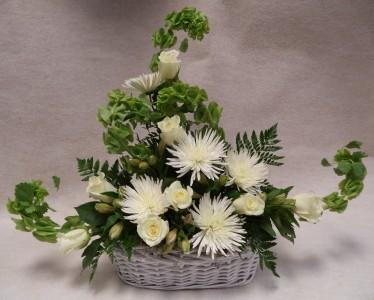 Eternal Faith Arrangement Fresh Flower Arrangement