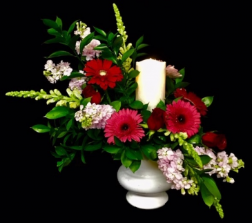 Eternal Flame Floral Design with Luxury Lite Candle