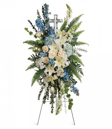Eternal Grace Spray with Lg. Crystal Cross T284-1A