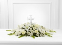 """Eternal Light"" Lovely pristine arrangement, symbolizing ""Our Eternal Hope"""