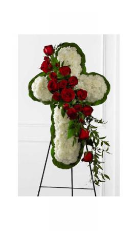 Eternal Love Cross Funeral Flowers