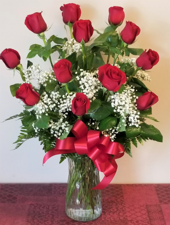 Eternal Love 1 Dozen Long Stem Rose Arrangement