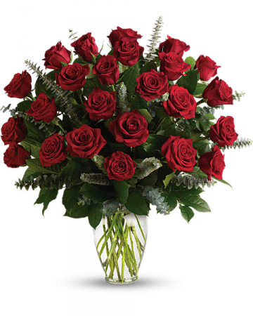 Eternal Love Roses Vased Two Dozen