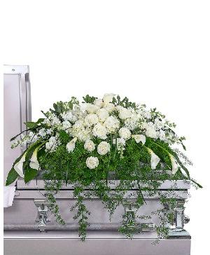 Eternal Peace Casket Spray Sympathy in Nevada, IA | Flower Bed
