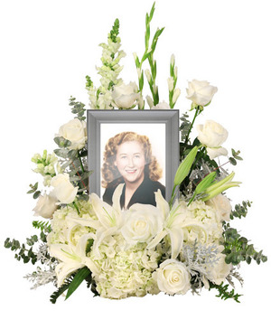 Eternal Peace Memorial Flowers   (frame not included)  in Port Dover, ON | Upsy Daisy Floral Studio