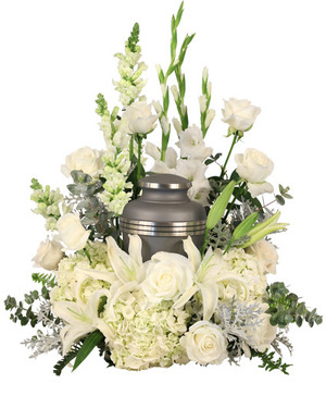 Eternal Peace Urn Cremation Flowers   (urn not included)  in Solana Beach, CA | DEL MAR FLOWER CO