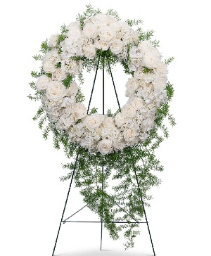 Eternal Peace Wreath Sympathy in Nevada, IA | Flower Bed
