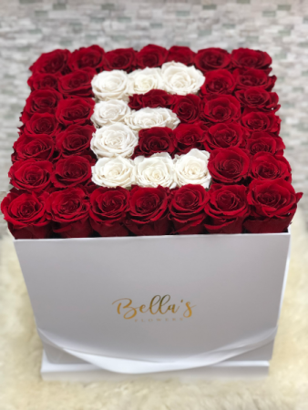 Eternity Roses with Name Initial