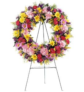Eternity Wreath Funeral Design in Presque Isle, ME | COOK FLORIST, INC.