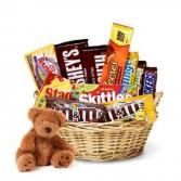 Etta the  Bear And Chocolate Gift Basket Gift Basket