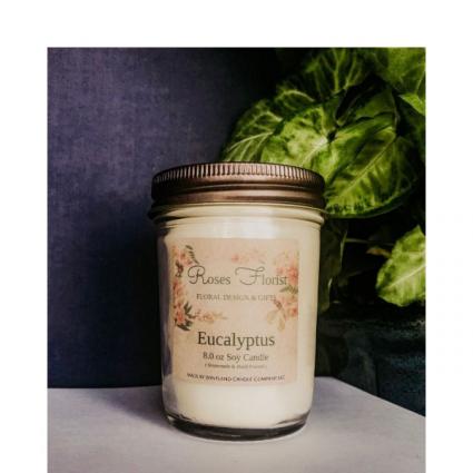 Eucalyptus Soy Candle  Waveland Candle Company