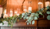 Eucalyptus Mantel with Candles  Ceremony
