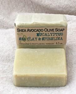 Eucalyptus, Sea Clay & Spirulina Bar Shea Avocado Olive Soap Bar