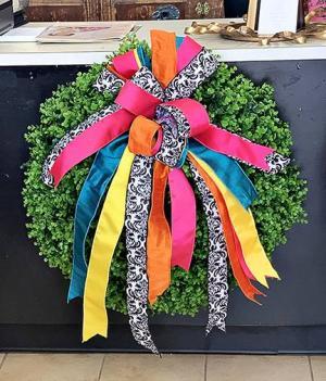 Eucalyptus Wreath all green wreath - handmade in Clinton, NC | ATRIUM FLORIST