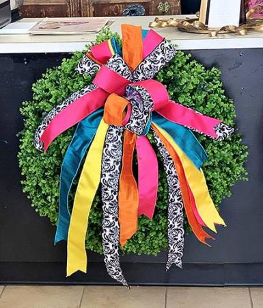 Eucalyptus Wreath all green wreath - handmade