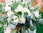 Eucalyptus/Roses Bridal bouquet  Wedding Bouquet