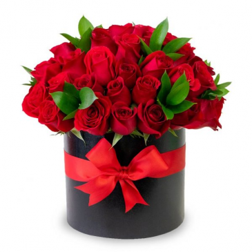 Luxury Rosas Rojas Elegante Caja de Rosas