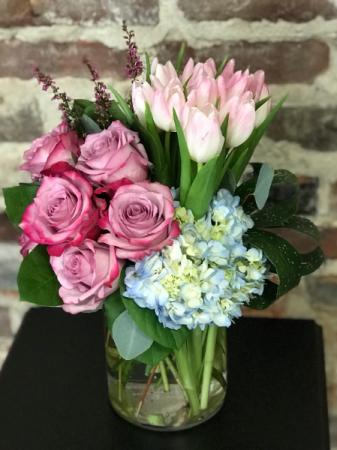 Euphoric Lilac Bouquet Vased Arrangement