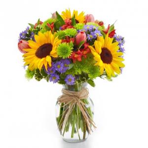European Garden Bouquet Vase of Fresh Flowers in Hampton Falls, NH | FLOWERS BY MARIANNE