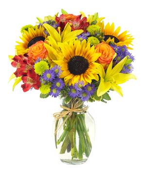 European Garden Vase Arrangement in Springfield, MO   FLOWERAMA #226