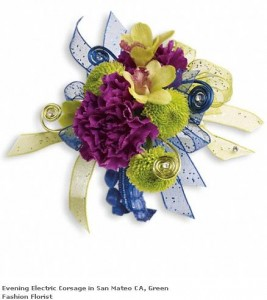 Evening Electric Corsage in San Mateo, CA | GREEN FASHION FLORIST