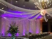 Event Decor Romantic Backdrop with Cinderella Ceiling