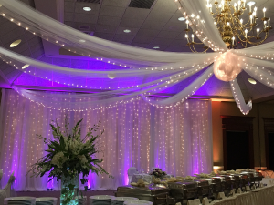 Event Decor Romantic Backdrop with Cinderella Ceiling in Tyngsboro, MA | BLOSSOMS