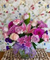 For You pinks & purples vase