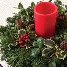 Evergreen candle ring Holiday in Wheatland, WY | SIMPLY CREATIVE FLOWERS, FASHION & GIFTS