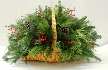 Evergreen Fireside Basket Basket