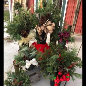 Evergreen Planters  in Mazomanie, WI | B-STYLE FLORAL AND GIFTS