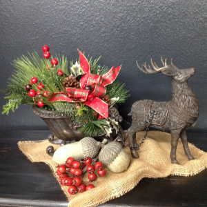 Everlasting Deer and Sleigh   in Blaine, WA | BLAINE BOUQUETS