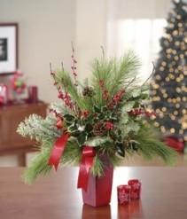 Everlasting Evergreen Holiday Arrangement