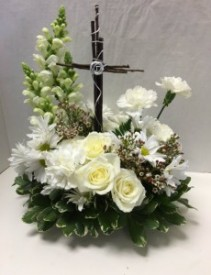 Cross of Blessing Sympathy Arrangement