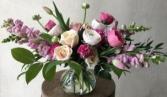 Every Things Rosy Vase arrangement