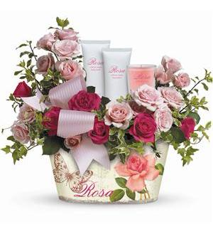Everything Rosy Gift Bouquet  in Allen, TX | Lovejoy Flower and Gift Shop