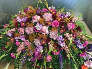 Eve's Garden Casket Spray in Rosenberg, TX | Busy Bee's Flowers