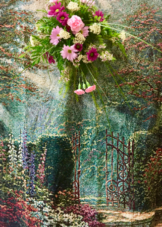 Example: floral added To  Garden Afghan