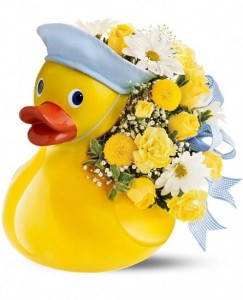 """Exclusively at Flowers Today Ducky Delight Ceramic Keepsake """"Boy"""""""