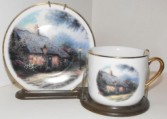 Exclusively at Flowers Today Florist Thomas Kinkade Country Cottage Tea Cup & Saucer Set