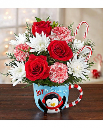 Exclusively at Flowers Today Florist Joy to the World Keepsake Holiday Mug