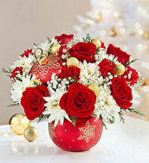 """""""Exclusively at Flowers Today Florist"""" Shimmering Star Ornament Ceramic Keepsake"""