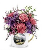 Exclusively at Flowers Today Florist Thomas Kindade Country Cottage Tea Cup & Saucer Set