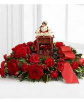 Exclusively at Flowers Today Florist Norman Rockwell Naughty or Nice Centerpiece