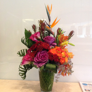 tropical   arrangement in Forest Hills, NY | FOREST HILLS LILIES OF THE VALLEY