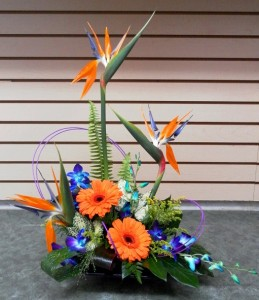 Exotic Complements Dish in Calgary, AB | FIRST CLASS FLOWERS LTD.