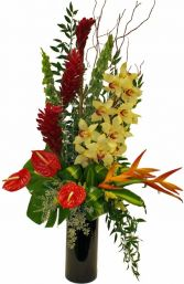 EXOTIC CYMBIDIUM ORCHIDS ARRANGEMENT