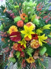Exotic Floral Funeral Spray  Funeral, Sympathy