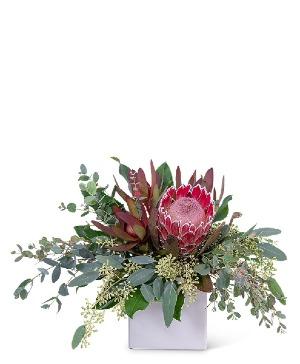 Exotic Naturals Flower Arrangement in Nevada, IA | Flower Bed
